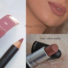 mac soar lip liner and velvet teddy lipstick Mac Velvet Teddy, Kylie Jenner Lipstick, Skin Makeup, Makeup Lipstick, Mac Lipsticks, Lipstick Colors, Beauty Makeup, Beauty Bar, Beauty Ideas