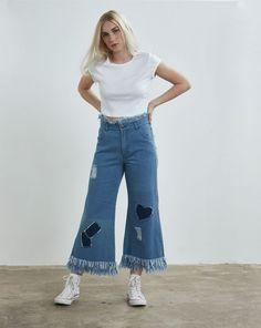 Aymmy in the Batty Girls Rodeo Denim Wide Leg Jeans