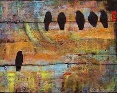 Sunshine Art Print 11X14 Tree Love Birds by blendastudio on Etsy