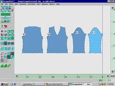 Desginaknit dak original pattern drafting v neck sweater screen capture