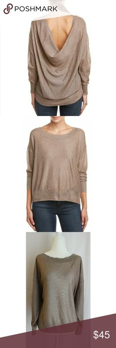 Free People Fairy Dust pullover HAS TWO SNAGS BUT ARENT NOTICEABLE. PULLOVER LOOKS PERFECT.   Boat neck  - Long sleeves  - Cowl back with strap detail  - Hi-lo hem  - Imported  Fiber Content 52% viscose, 46% polyester, 1% nylon, 1% spandex  Care Hand wash cold Free People Tops Blouses