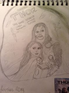 Thor dessin Thor, Female, Drawings, Art, Drawing Drawing, Sketches, Craft Art, Sketch, Kunst