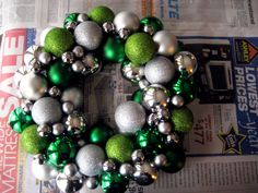 complete ornament wreath. Maybe use thrift store or end of season finds to save $