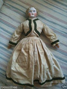 Antique Parian China Head Doll Cloth Body Original Clothes | eBay