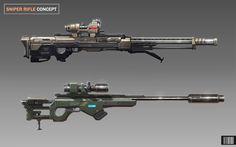 Sniper Rifle Concept by ARTOFJUSTAMAN.deviantart.com on @deviantART