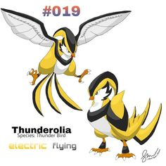 Fakemon Thunderolia by AlbertXavieee by AlbertXavieee