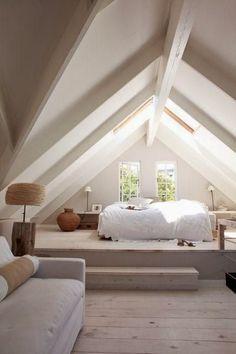 attic bedroom, neutral