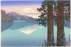 Ashinoko, by Tsuchiya Koitsu, 1930's