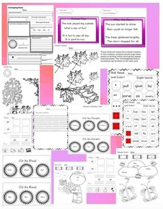I Work and Play all Day! Literacy Center from CCH Learning on TeachersNotebook.com -  (59 pages)  -  A literacy center that encourages table rotations with printables and activities. This center focuses on poetry, digraphs, blends, abc order, descriptive webs, sight words, parts of speech, and more!