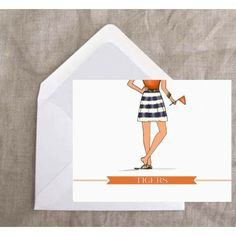 Adorable Ashley Brooke notecards! Collegiate Girl (avail in many SEC team styles) and customizable for those teams not yet represented. #Auburn pictured here, but also avail for #OleMiss, #UGA, #Bama, #LSU, #Gators. Love!