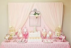 Little Big Company | The Blog: Pretty Pink Lovebird/Birdcage Theme For Wedding Styled by P by Design, would be cute for a 'feather your nest' shower