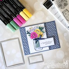 The Paper Craft Crew Challenge Blog has a Color Challenge this week. I chose to use the Jar Of Flowers stamp set for this sweet little Fun Fold card. When it comes to flowers I like a lot of color. Fun Fold Cards, Folded Cards, Alcohol Markers, Glue Dots, Stamping Up Cards, Embossing Folder, Your Cards, Stampin Up, Things To Come
