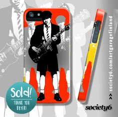Taking The Lead iPhone Case by artgaragefinland Highway To Hell, Angus Young, Pop Art Design, Laptop Covers, Rock Legends, Guitar, Iphone Cases, Gift Ideas, Artist