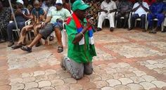 Welcome To Wisdom Samuel's Blog: I must win! Political aspirant on his knees beggin...