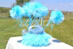 FROZEN INSPIRED TULLE WANDS - Party Favors, Decorations, Pom Pom Wands, Tutu Wands