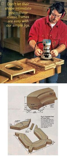 Making Oval Picture Frame - Woodworking Plans and Projects   WoodArchivist.com