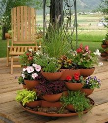 You can have a lovely herb garden right on your porch!