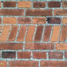 Slanted bricks : @bricksinwalls http://www.VintageBricks.com #1 supplier of reclaimed thin brick tiles