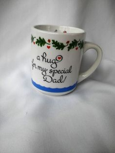"Mug/Cup Coffee/Tea/Hot Cocoa 8oz.""A Hug For My Special Dad"" EUC #AbbyPress"