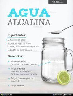 AGUA ALCALINA Pinterest ;) | https://pinterest.com/cocinadosiempre/