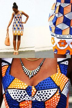 Kitenge print dress