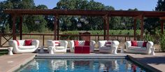 CORT Events Portfolio: Sonoma Pool Party with inflatable furniture