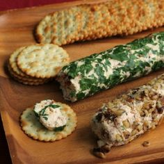 Delicious smoked gouda cheese is the star of these creamy cheese logs.