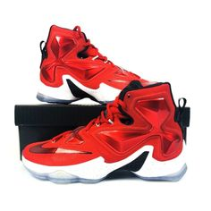8a9fe0300c7 Shop Men s Nike Red White size Sneakers at a discounted price at Poshmark.  Description  Nike Air Zoom Max LeBron James XIII 13 807219 610 New With Box  ...