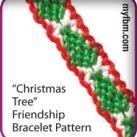 Friendship Bracelet Pattern Christmas Tree Design
