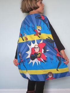 Incredibles Fabric Superhero Cape at www.mysistermabel.bigcartel.com