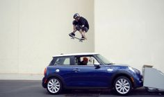 Tony Hawk Vs Mini Cooper S  http://www.smelive.com/news/skate/tony-hawk-vs-mini-cooper-s/