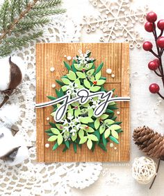 SSS Wood Background | RejoicingCrafts Christmas Holidays, Christmas Decorations, Religious Christmas Cards, Red Jewel, Wood Background, Tiny Flowers, Handmade Ornaments, Holiday Cards, Card Making