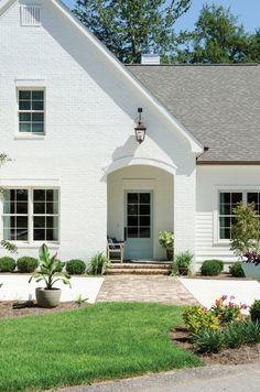 White brick exterior.