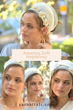 👌🌷🌻Quick, comfortable Lovely accessorize! #ticheloftheday #tichel #tichels #headcoveringmovement #headcovering #headscarf #veil #vintagefashionchallenge #vintage #snood #headpiece #doityourself #Inspire #Turban #beautiful #beauty #makeup #fashion #style #love #jewish #judaic #judaism #volumizer #hebrew #ashkenazi #flower #hijab #religious #israel Style Challenge, Cotton Lace, Outfit Posts, Head Wraps, Headpiece, Fabric Design, Awesome Gifts, Compliments, Beauty Makeup