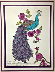 Perfect Peacock by Shel's Cards - Cards and Paper Crafts at Splitcoaststampers Peacock Logo, Perfect Peacock, Arts And Crafts, Paper Crafts, Scrapbook Cards, Scrapbooking, Bird Cages, Stamping Up Cards, Peacock Feathers