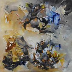 """""""La posibilidad de lo Auténtico"""" - Sonia Kusznir - Oleo sobre tela - 100 x 100 cm  www.esencialismo.com"""