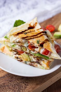 Step up your quesadilla game with this zesty caprese version.  Get the recipe at Sweet Peas and Saffron.   - Delish.com