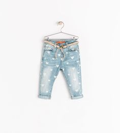 Image 1 of JEANS WITH HEARTS from Zara