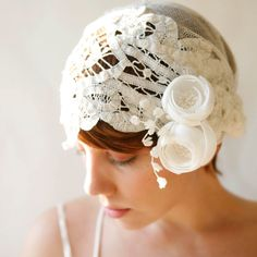1930s inspired headpiece...