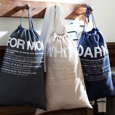 Easy Sort Laundry Bags, Set of 3 #pbteen