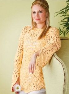 Very Pretty Free Downloadable Crocheted Sweater Pattern