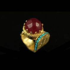 Crown Ring Red now featured on Fab.