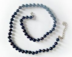 Black pearls Beads pearls Necklaces pearls Black by SundriesShop