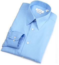 Calvin Klein Mens Silky Poplin Dress Shirt