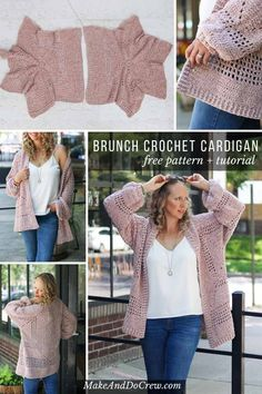 Crochet Cardigan Sweater Pattern made from two hexagons - free pattern! - Crochet Sweater and Cardigan Patterns for Women - This velour crochet cardigan sweater pattern is the comfiest thing you'll ever make! Cardigan Au Crochet, Gilet Crochet, Crochet Jacket, Crochet Shawl, Sweater Cardigan, Knit Crochet, Crochet Sweaters, Cocoon Cardigan, Moda Crochet