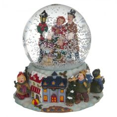 Luville - Snow Globe Santa And Reindeer