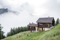 in the Anniviers Valley in the Swiss Alps, Les Toueilles by Mijong architecture design Alpine Style, Chalet Style, Best Architects, Mountain Homes, Architect Design, Beautiful Buildings, Shed, Relax, Construction