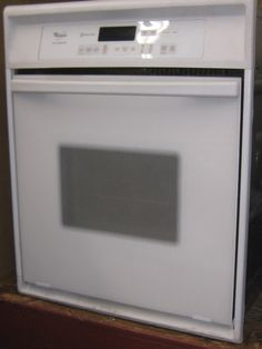 appliance city whirlpool 24 inch wall oven accubake system electronic touch controls self cleaning timer
