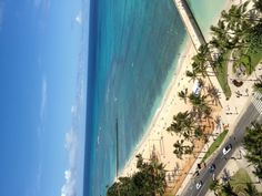 Waikiki Beach!  Nice to wake up to this view.