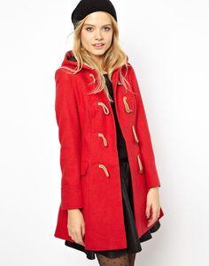 Faux Fur Hooded Duffle Coat | Duffle coat